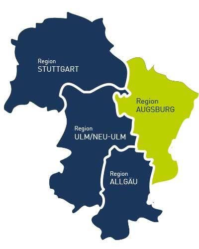 Regionenkarte der PROFFILE Firmenguides