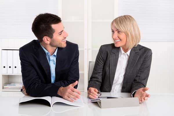 Erfolgreiches lachendes Business Team