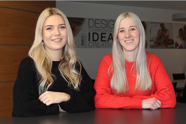 Janine Popp und Elina Braunmiller, Azubis bei Beurer GmbH