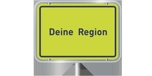 Ortsschild - Entdecke Deine Region