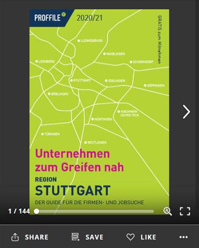 Der Firmenguide für die Firmen- und Jobsuche für die Region Stuttgart als Online-Blätterbuch