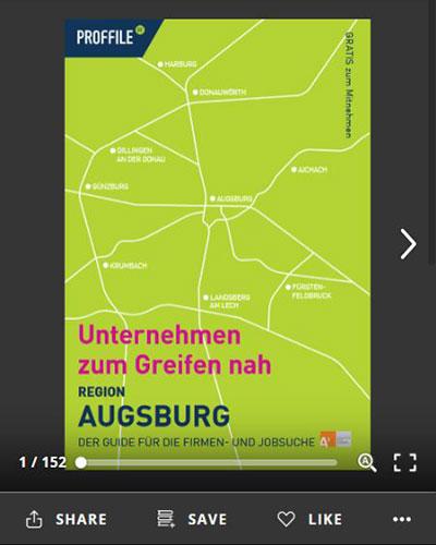 Der Firmenguide für die Firmen- und Jobsuche für die Region Augsburg als Online-Blätterbuch