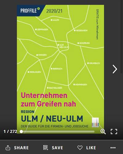 Der Firmenguide für die Firmen- und Jobsuche für die Region Ulm und Neu-Ulm. als Online-Blätterbuch