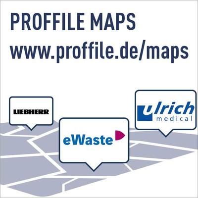 PROFFILE Maps Arbeitgeberkarte mit Jobs - Stroerr Plakat