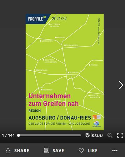 Der Firmenguide für die Firmen- und Jobsuche für die Region Augsburg / Donau-Ries als Online-Blätterbuch