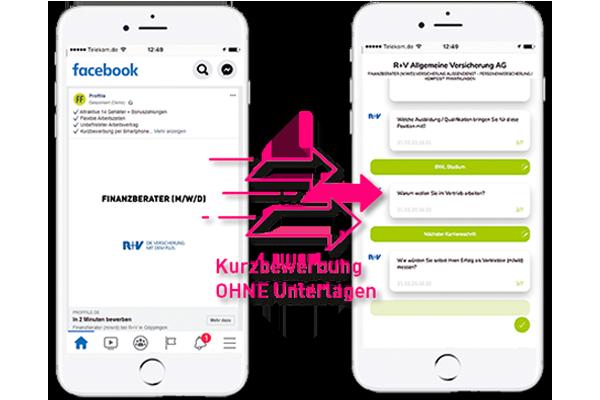 Online Kurzbewerbung ohne Unterlagen und Lebenslauf für schnelle Bewerberkontakte