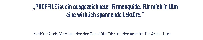 Kundenzitat Agentur für Arbeit Ulm