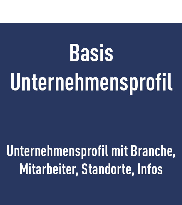 Basis Unternehmensprofil