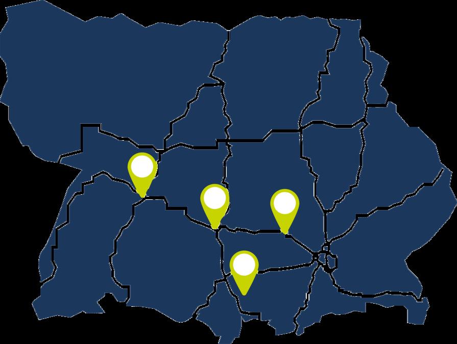 Deutschlandkarte - regionale Vermarktung des Firmenguides